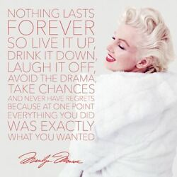 Marilyn Monroe - Nothing Lasts Forever - Ready Framed Canvas 85 X 85cm