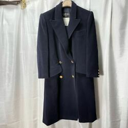 Rare Vintage Gold Button Wool Pea Coat P Outerwear