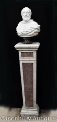 Marble Bust Sir Walter Raleigh - Hand Carved Italian Marble Elizabethan Statue