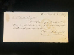 1869 Handwritten Check To Silas C. Hay For 16,000