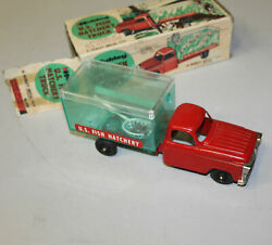 Antique Hubley Us Fish Hatchery Toy Truck With The Box