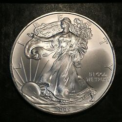 2009 Uncirculated American Silver Eagle Us Mint Issue 1oz Pure Silver I952