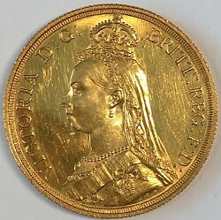 1887 Great Britain Double Sovereign 2lb Gold Coin - High Quality Scans C886
