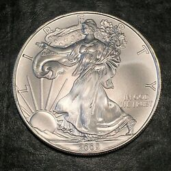 2009 Uncirculated American Silver Eagle Us Mint Issue 1oz Pure Silver I957