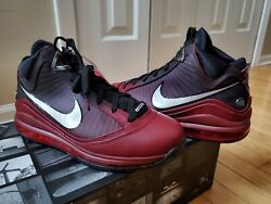 Nike Lebron 7 Vii Qs Christmas Extra Lace Men's 8.5 - Team Red Cu5133 600