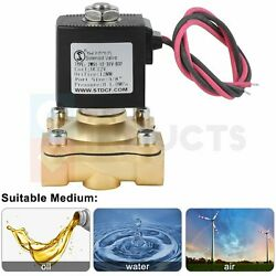 3/8 12v Brass Electric Solenoid Valve Normally Closed N/c Durable Water Air Gas