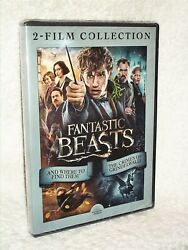 Fantastic Beasts 2-film Collection Dvd, 2018 New Harry Potter Spin-off Wizards