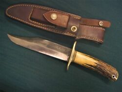Randall Made Knives Model 12-6 6 Inch Bowie Knife Stag Handle