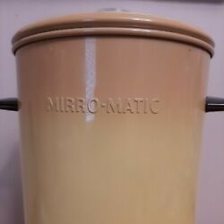 Vtg Mcm Mirro-matic Coffee Elect Percolator Harvest Gold 22 Cup And Waffle Maker