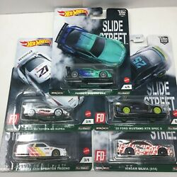 Hot Wheels 2021 Car Culture Slide Street Set Of 5 - In Hand Shipping Now
