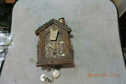 Antique Lux Scottie Scotty Dog House Animated Novelty Wall Clock