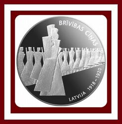 Latvia 2019 Silver Coin 5 Euro Fight For Freedom 1918–1920 - Soldier Proof