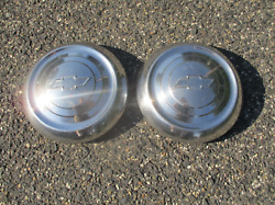 Genuine 1951 To 1953 Chevy Belair 409 Dog Dish Hubcaps