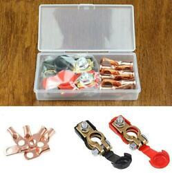 1pair Car Battery Cable Positive/negative Terminal Clamps Connectors With Box