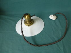 Antique Hanging Light Fixture with an Antique Milk Glass Shade