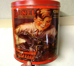 Lionel Electric Trains 1993 Popcorn Tin Featuring 1929 Lionel Toy Train Sign