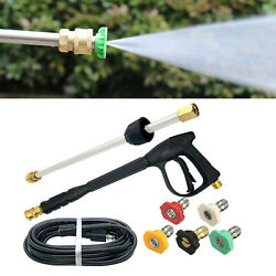 2200 Psi High Pressure Washer Spray Gun Wand Nozzle Tips Hose Quick Connect
