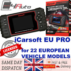 Icarsoft Eu Pro Multi-system Car Diagnostic Scanner For All 22 European Vehicles