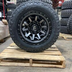 20x10 Fuel D716 Gray Covert Wheels 33 Nitto At Tires 8x170 Ford Super Duty F250