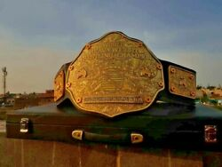 Wcw Big Gold Crumrine 24k Gold Hd Belt Real Cowhide Leather Thick Plates