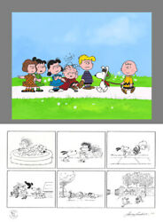 Peanuts The Jigs Up Limited Ed Of 68 Animation Cel N Print Signed Mlc22