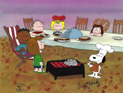Peanuts Thanksgiving Limited Edition Of 150 Animation Cel Signed Melendez Mlc07