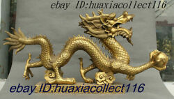 36 Chinese Pure Brass Copper Fengshui Wealth 12 Zodiac Year Dragon Beast Statue