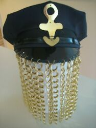 Chain Hat Black With Gold Chains 1992