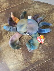 Very Rare Ty Beanie Babies Claude The Crab 1996 Original Retired With Errors