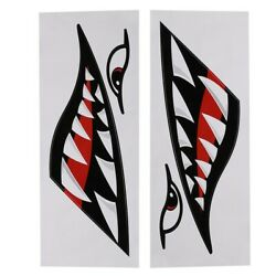 Teeth Stickers PVC Decorative Stickers For Car Vehicle Decor Kayak Ornament For