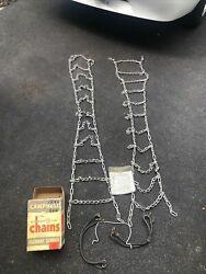 """Vintage Tire Chains Campbell Highway Service Original Box 60"""""""
