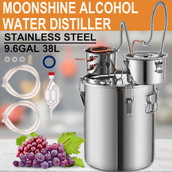 Moonshine Still 9.6gal Stainless Steel Water Alcohol Distiller Home Brewing Kit