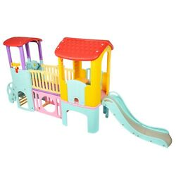 Outdoor Kids Playhouse Toddler Playhouse With Baby Slide For Kid Little Tike