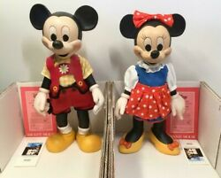 Disney Mickey Mouse Minnie Mouse Limited 2,500 Anri Wooden Doll Rare
