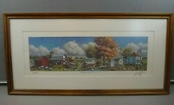 Rare Lowell Davis Foxfire Farm 45/900 Framed, Signed And Numbered Print