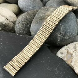 Rare 1940s 10k Gold Filled Stonewall Usa Made Premium New Old Vintage Watch Band