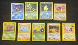 Pokemon Tcg 261 All Different 1st Edition Common Uncommon Lot Played To Nm