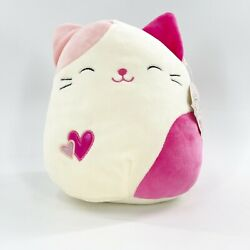 Squishmallow Val Pink Heart Cat 8 Kellytoy Plush 2018 Valentine Collectible New