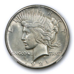 1921 1 Peace Dollar High Relief Ngc Ms 63 Uncirculated Key Date Tough Cert0001