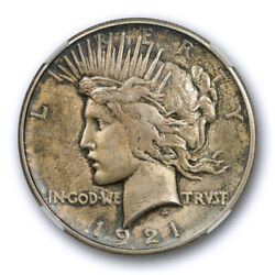 1921 1 Peace Dollar High Relief Ngc Ms 63 Uncirculated Toned Key Date Cert9010