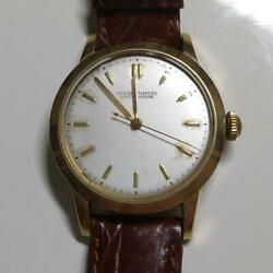 Ulysse Nardin Watch 18k Yellow Gold Round Automatic 1950 Antique Ship From Japan