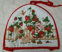 Vintage Strawberry Shortcake 1980 Toaster Cover Quilted Fabric Tag