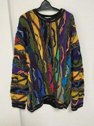 Vintage Coogi Cotton Knitted Sweater Size Xl Made In Australia / List No.3036