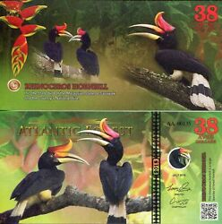 Atlantic Forest 38 Aves Banknote World Paper Money Currency Fun/art Note 2018