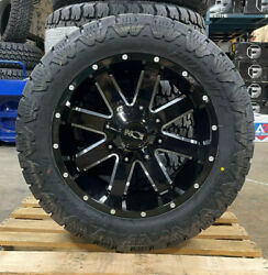20x10 Ion 141 33 Amp At Black Wheel Tire Set Package 8x6.5 Dodge Ram 2500 3500