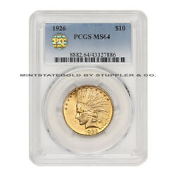 1926 10 Gold Indian Head Eagle Pcgs Ms64 Pq Approved Choice Graded Philadelphia