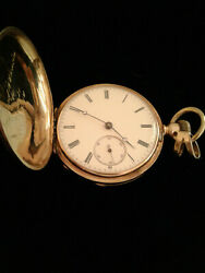 Antique Late 1800 Patek Philippe 18k Yellow Gold Cover Pocket Watch, Not Running