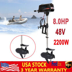 Electric Brushless Outboard Motor 2.2kw 8hp Fishing Boat Engine Tiller Control
