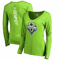 Clint Dempsey Seattle Sounders Fc Fanatics Branded Women's Backer Name And Number