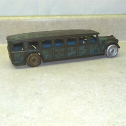 Vintage Arcade Cast Iron Fageol Safety Coach Bus, Driver, Toy Vehicle